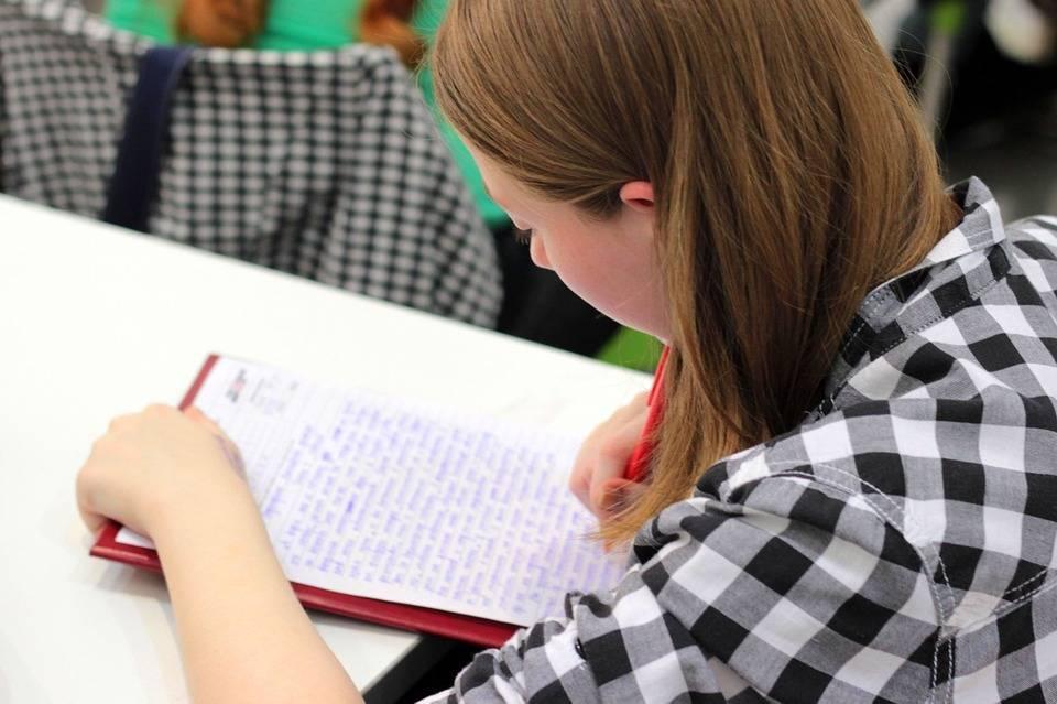 student przygotowujący notatki